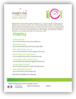 Click to view the Magnolia Meals at Home Menu